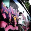Straßenmalerwettbewerb Geldern: Graffiti - Aktion auf der Hartstaße