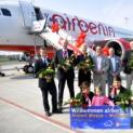 Flughafen Weeze feierte Erstflug der neuen Nonstop - Verbindung nach Mallorca